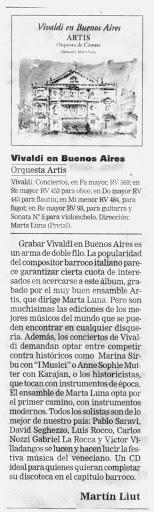 Vivaldi en Buenos Aires - Diario La Nación