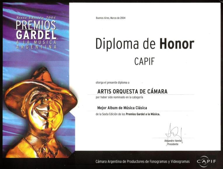 diploma GARDEL